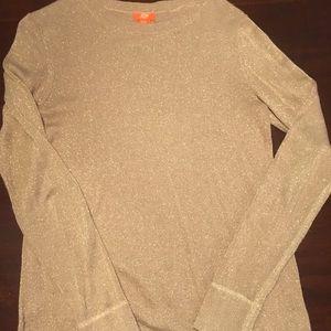 Joe Fresh gold glitter long sleeved sweater